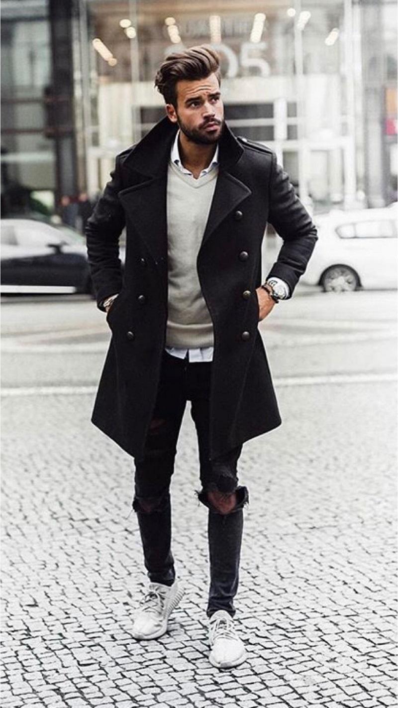 nam gầy nên mặc gì vào mùa đông
