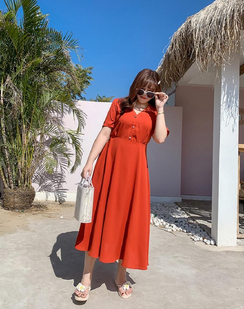 váy đi biển cho người thấp béo